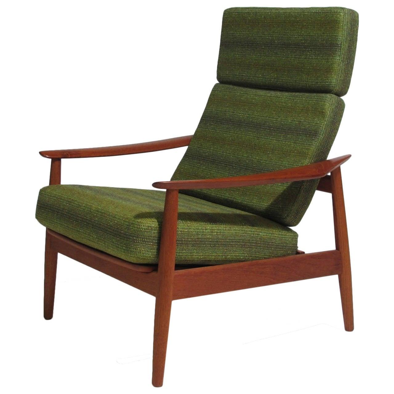 Arne Vodder Danish High Back Lounge Chair at 1stdibs