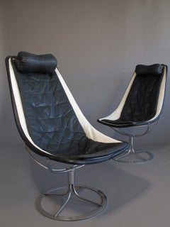 Mid-century Bruno Mathsson Jetson Leather & Chrome Chairs