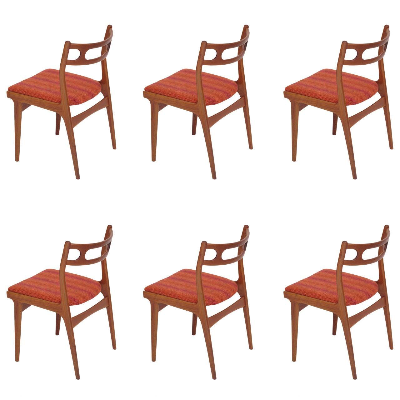 this johannes andersen danish teak dining chairs is no longer