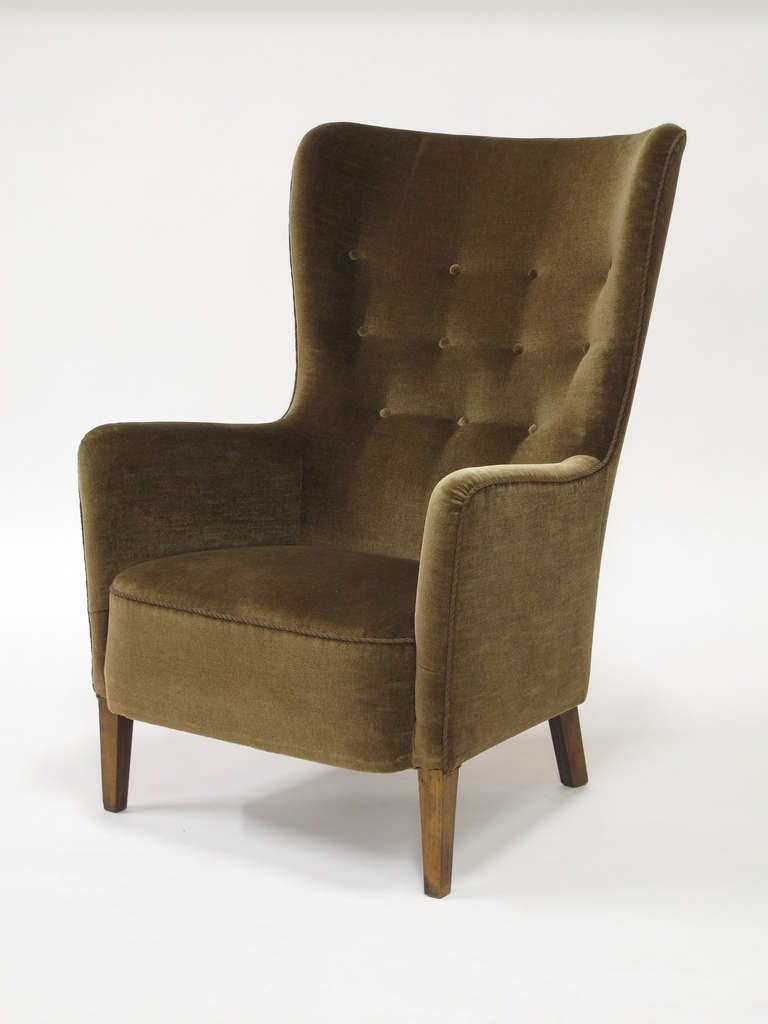 1930 39 s scandinavian wingback chair at 1stdibs - Scandinavian chair ...