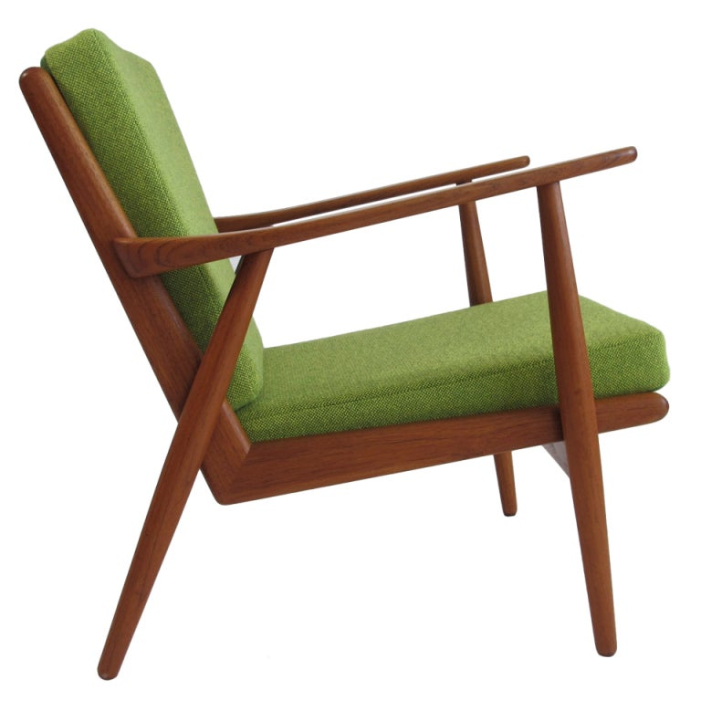 Mid Century Danish Teak Lounge Chair at 1stdibs