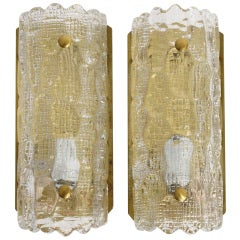 Pair of Carl Fagerlund Sconces for Orrefors