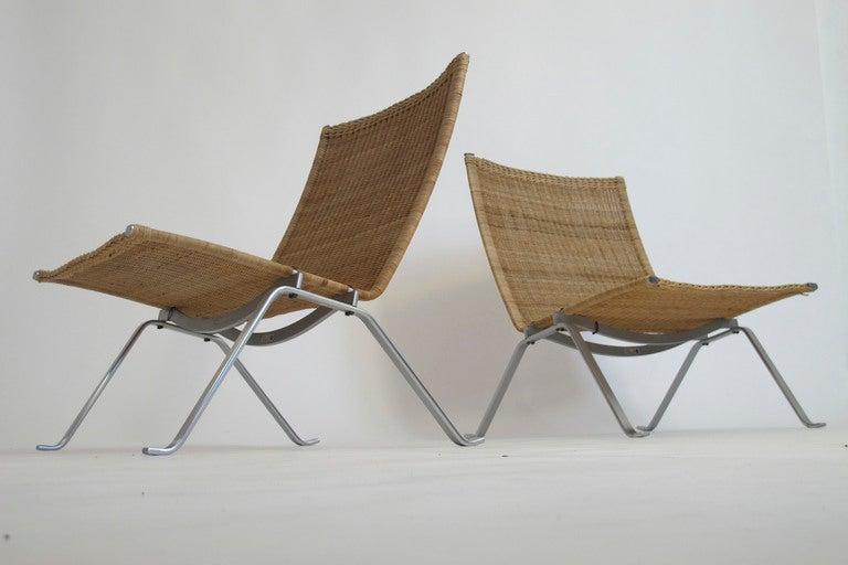 Poul Kjaerholm Pk 22 Lounge Chairs At 1stdibs