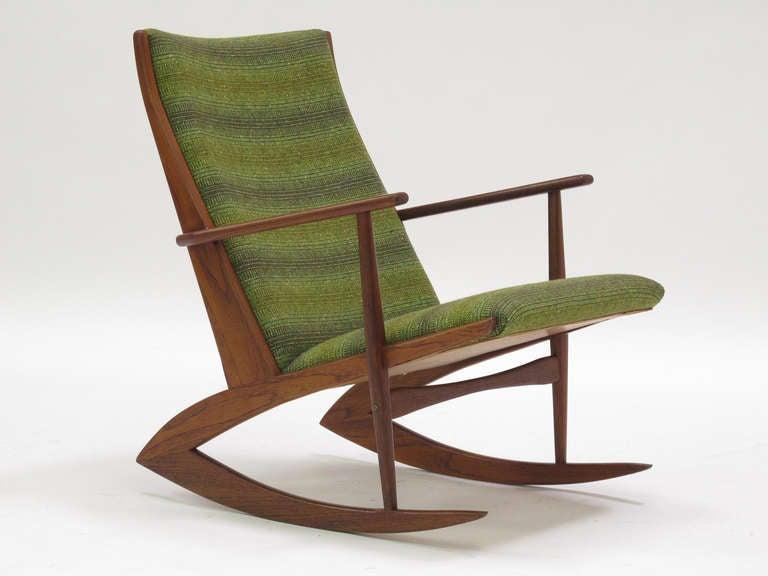Danish Rocking Chair By Soren Georg Jensen At 1stdibs