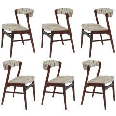 Six Danish Modern Brazilian Rosewood Dining Chairs