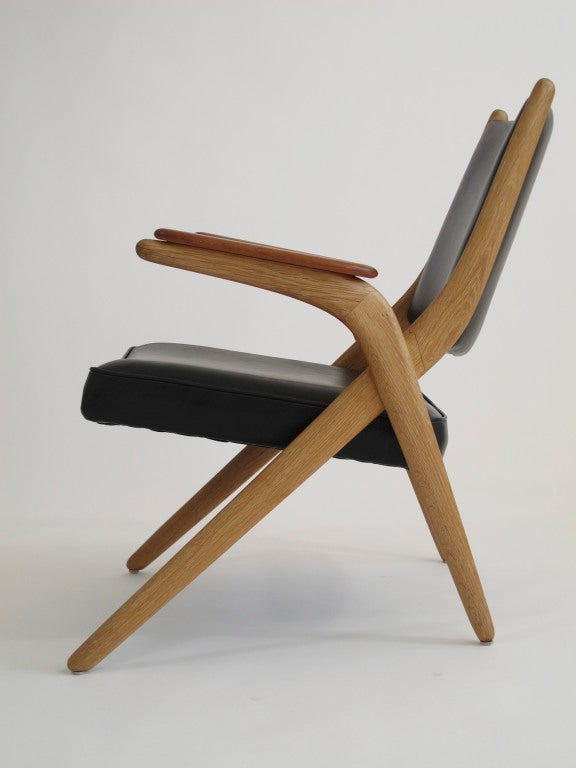 Danish Quot X Quot Arm Chair At 1stdibs