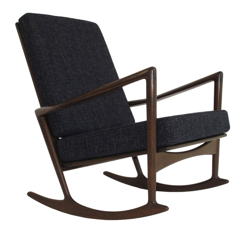 Ib Kofoed Larsen Rocking Chair At 1stdibs