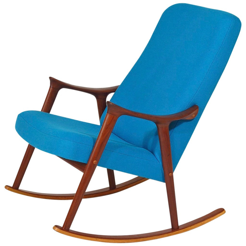 Mid century danish rocking chair at 1stdibs