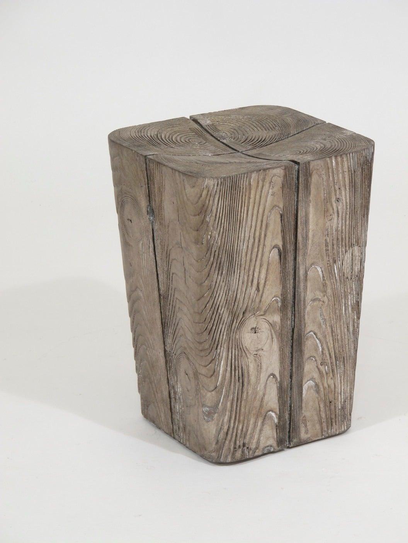 Wood Stump Stool At 1stdibs