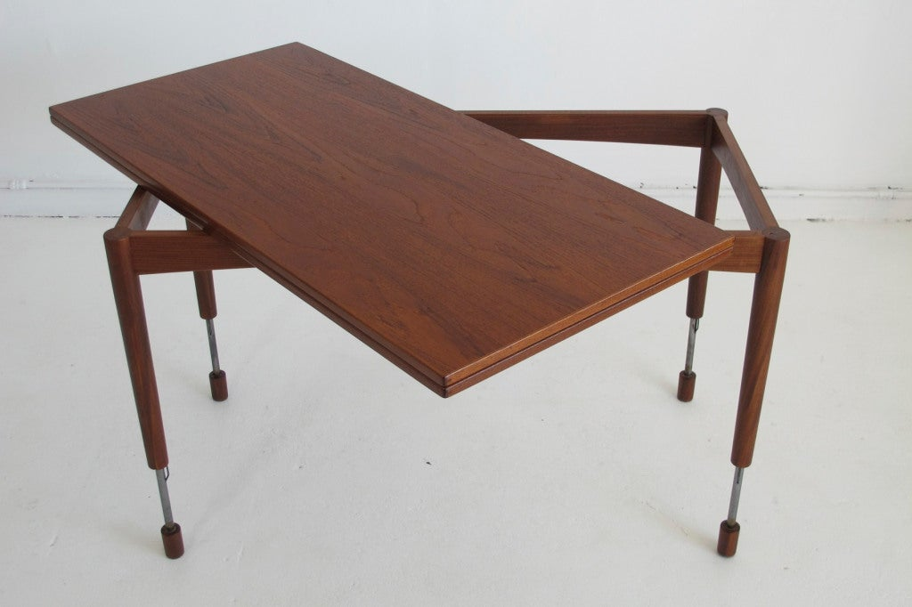 Hans Olsen Adjustable Height Danish Teak Dining Or Coffee Table At 1stdibs