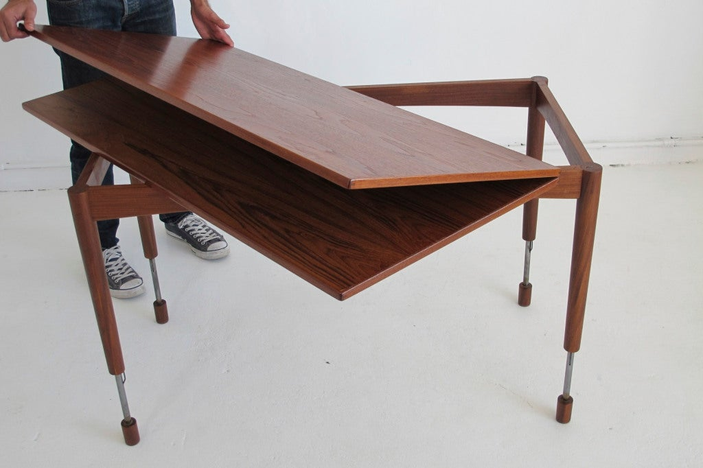Hans Olsen Adjustable Height Dining Coffee Table At 1stdibs