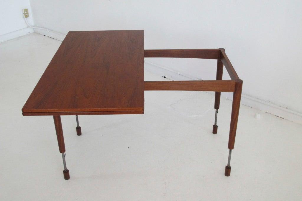 hans olsen adjustable height dining coffee table at 1stdibs