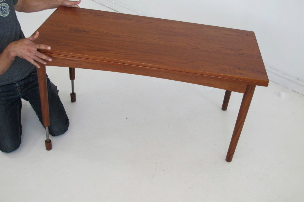Hans olsen adjustable height dining coffee table at 1stdibs Coffee table to dining table