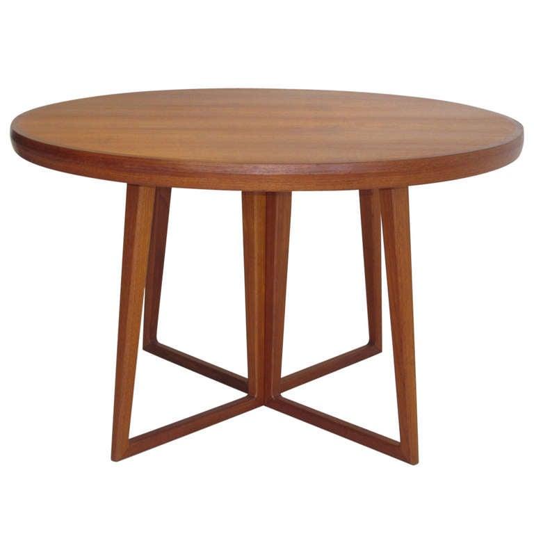 Arne vodder danish teak dining table at 1stdibs - Scandinavian teak dining room furniture design ...