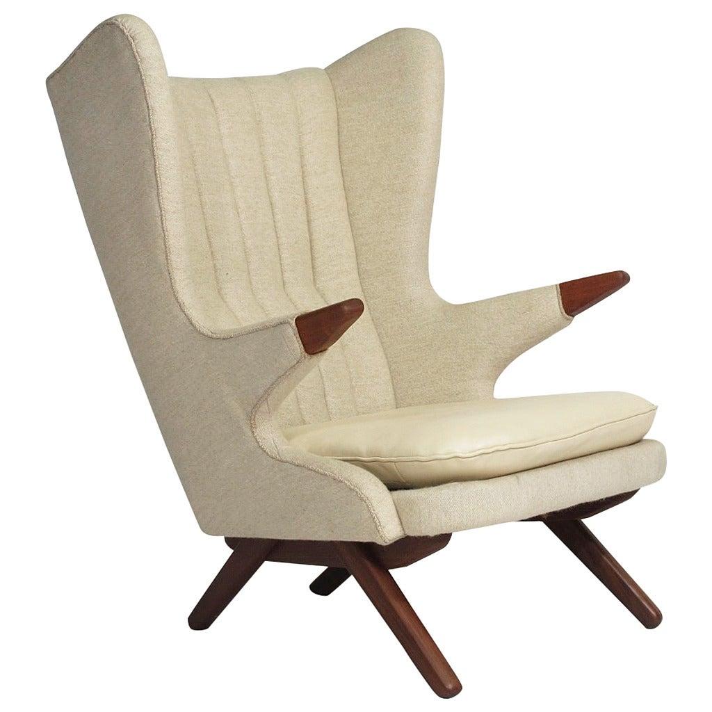 1960s Missoni Wingback Chair At 1stdibs: Mid-Century Svend Skipper Papa Chair At 1stdibs