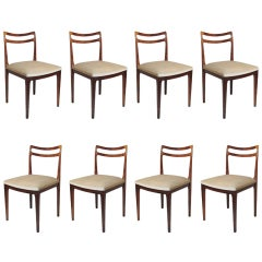 Eight Elegant Rosewood Dining Chairs