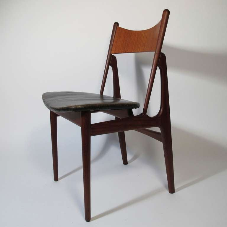 six danish modern teak dining chairs image 2