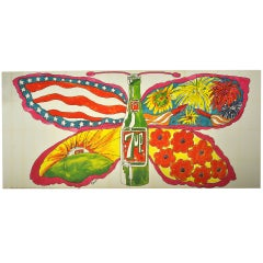 1969 Psychedelic 7-UP Billboard on Linen 20' x 9'