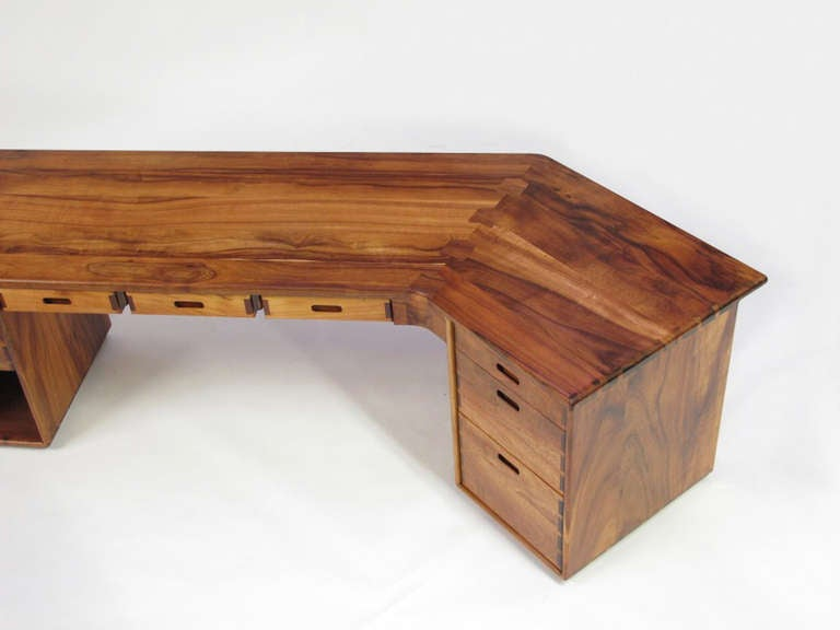 Studio Crafted Koa Wood Desk At 1stdibs