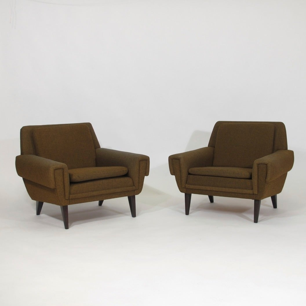 Mid Century Danish Lounge Chairs at 1stdibs
