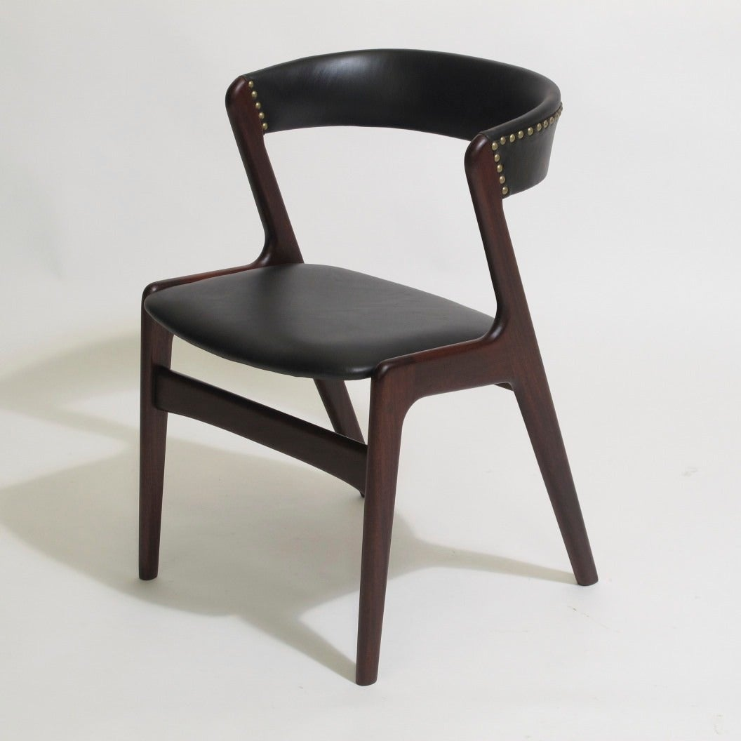 kristiansen black leather danish dining chairs is no longer available