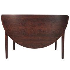 Arne Vodder Rosewood Dropleaf Dining Table