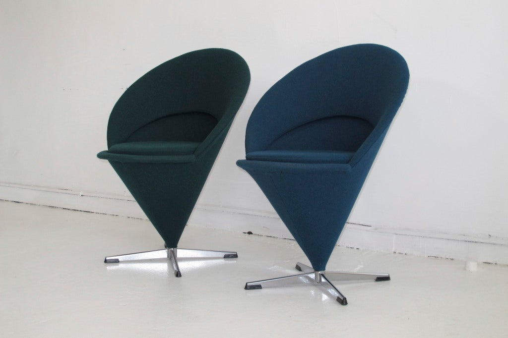 verner panton cone chairs at 1stdibs. Black Bedroom Furniture Sets. Home Design Ideas