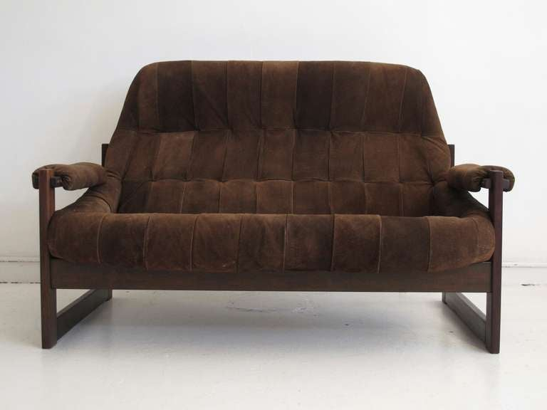 70 S Brazilian Leather Sofa By Lafer At 1stdibs