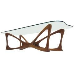 Dragonfly Walnut & Glass Coffee Table