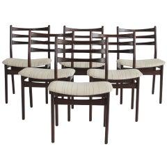 Mid century Danish Brazilian Rosewood Dining Chairs