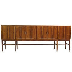 Georg Kofoed Rosewood Credenza with Eight-Karat White Gold Inlay
