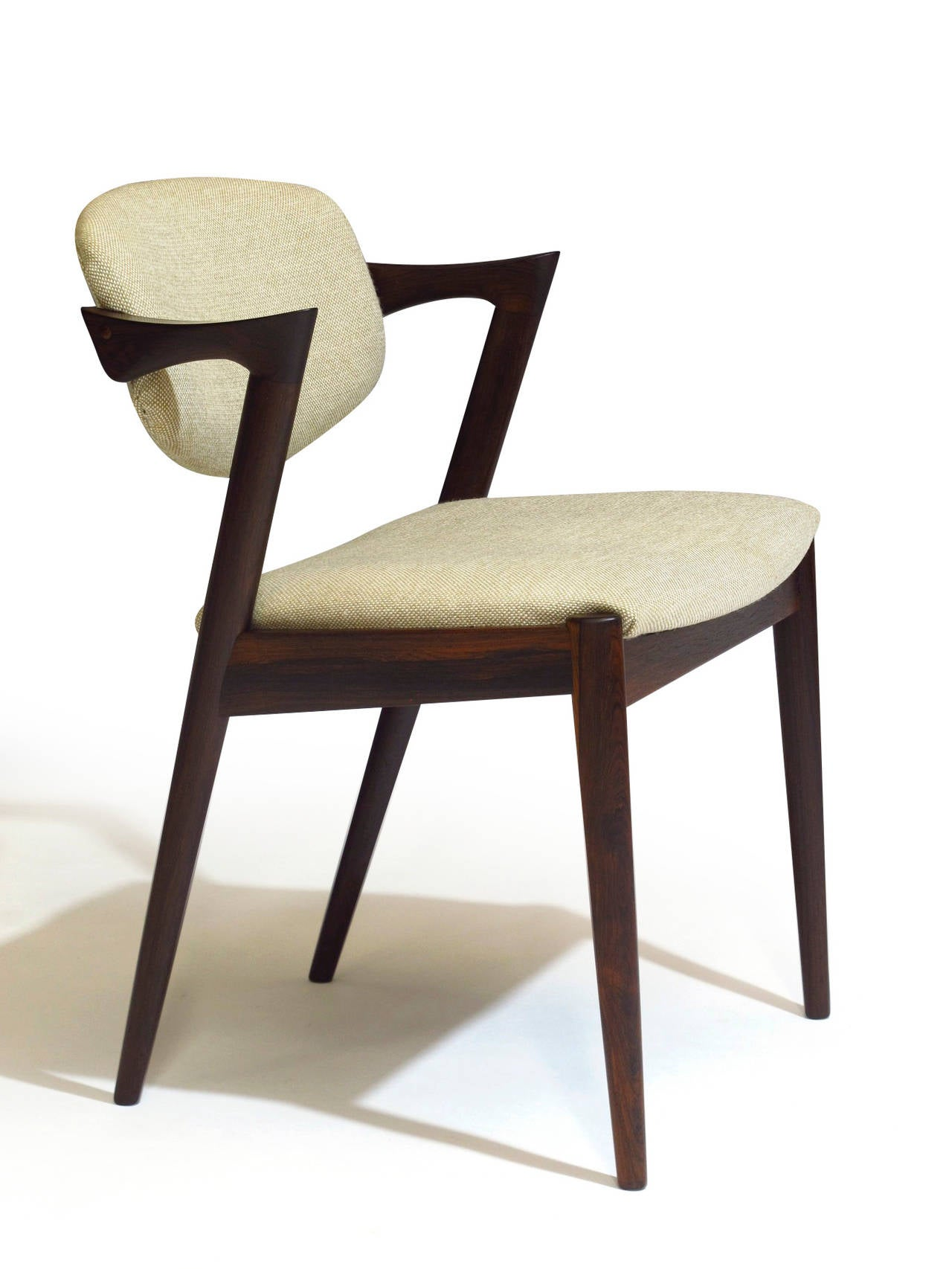 Six rosewood kai kristiansen danish dining chairs 14 available at 1stdibs - Kai kristiansen chairs ...