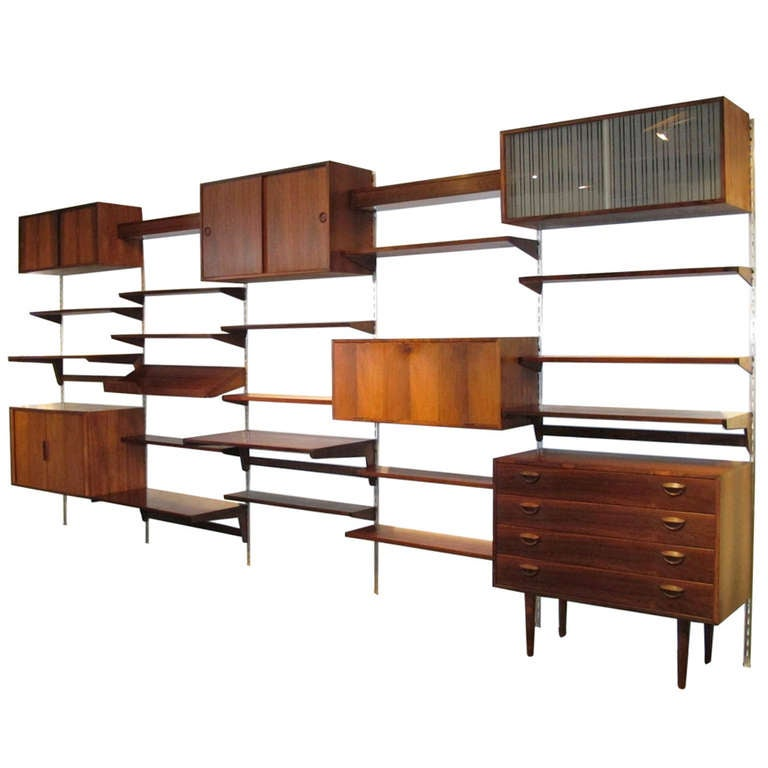 Kai Kristiansen Danish Rosewood Wall Unit at 1stdibs