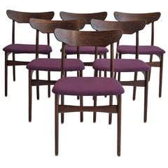 Six Mid-century Danish Brazilian Rosewood Dining Chairs