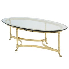 Elegant LaBarge Polished Brass Coffee Table