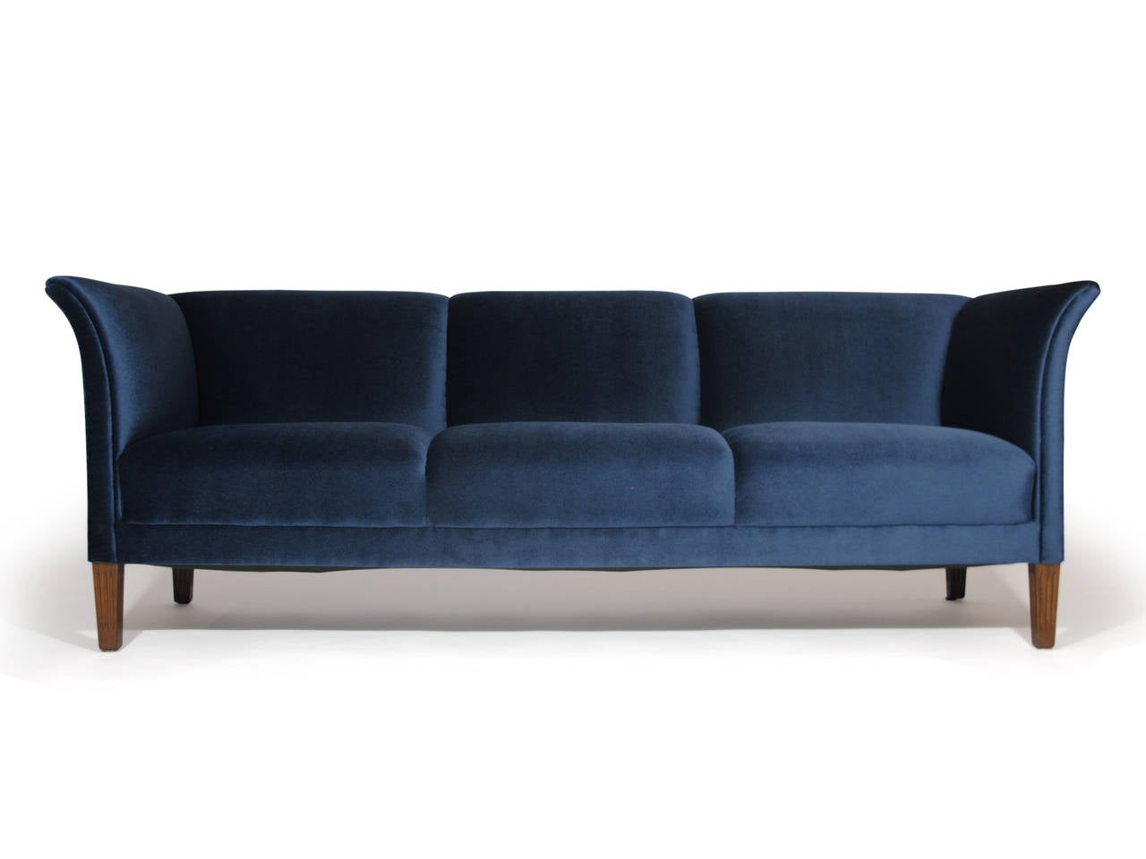 1930s Danish Navy Blue Mohair Sofa At 1stdibs