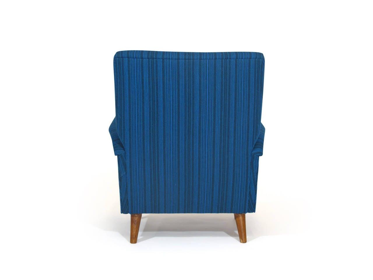 Wool Gio Ponti Model 803 Mid-Century Italian Lounge Chair For Sale
