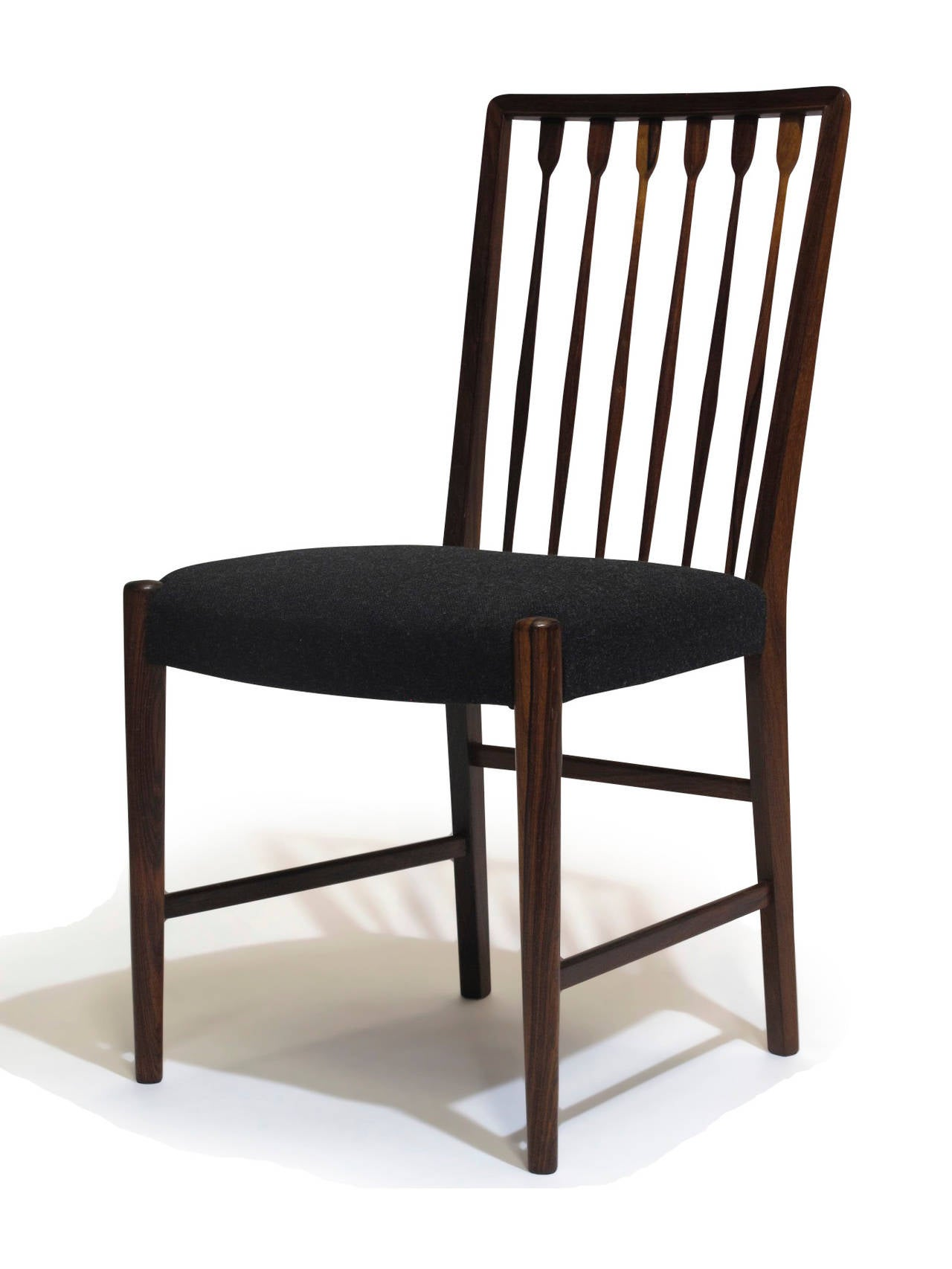 Georg kofoed danish rosewood dining chairs for sale at 1stdibs for Danish dining room chairs