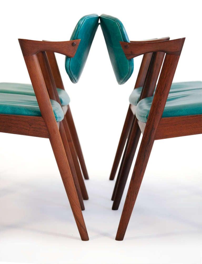 Kai kristiansen brazilian rosewood dining chairs at 1stdibs - Kai kristiansen chair ...