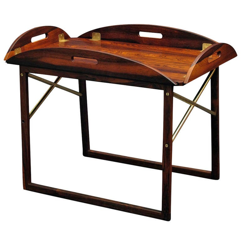 Svend Langklide Rosewood Butlers Tray Table For Sale