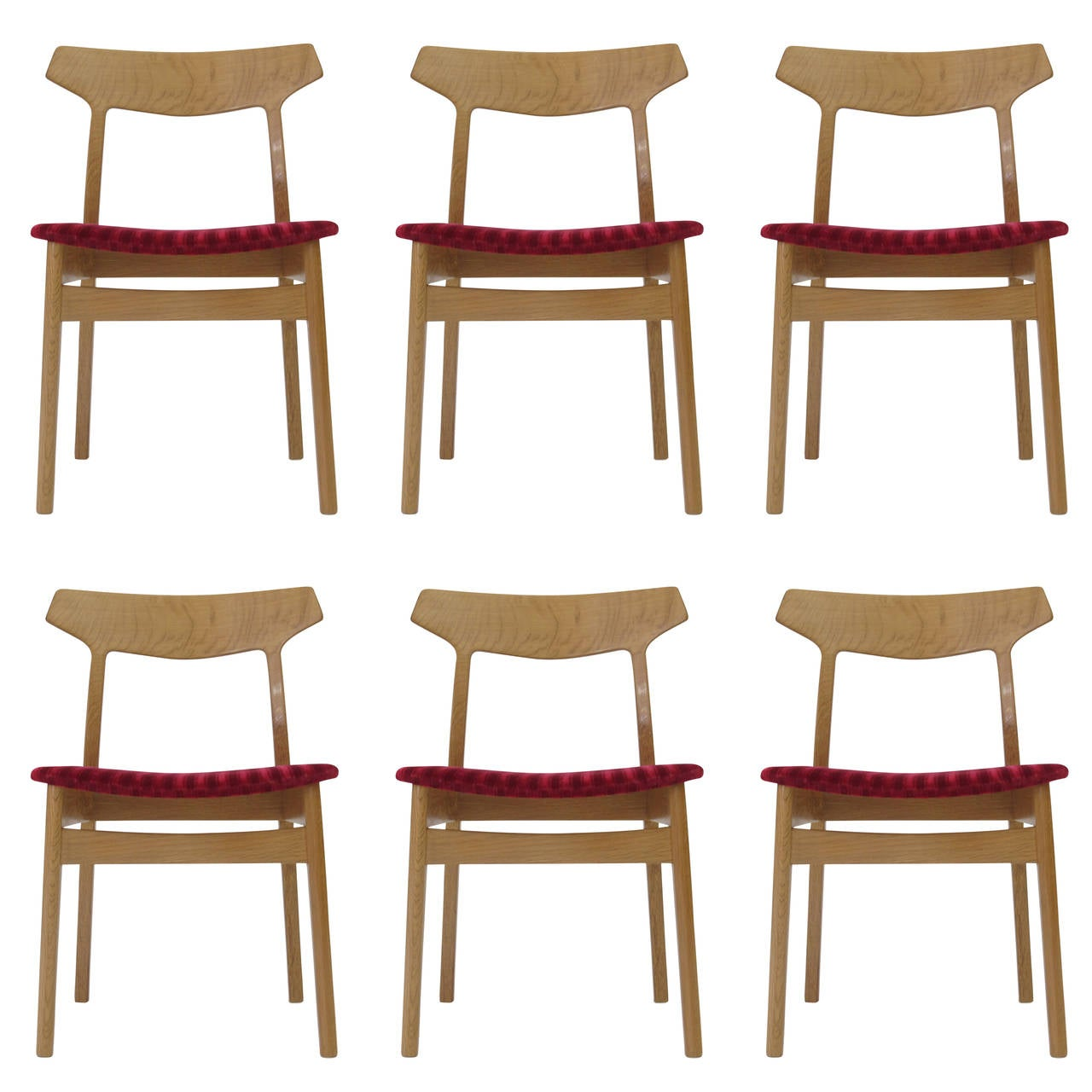 Henning Kjærnulf White Oak Danish Dining Chairs