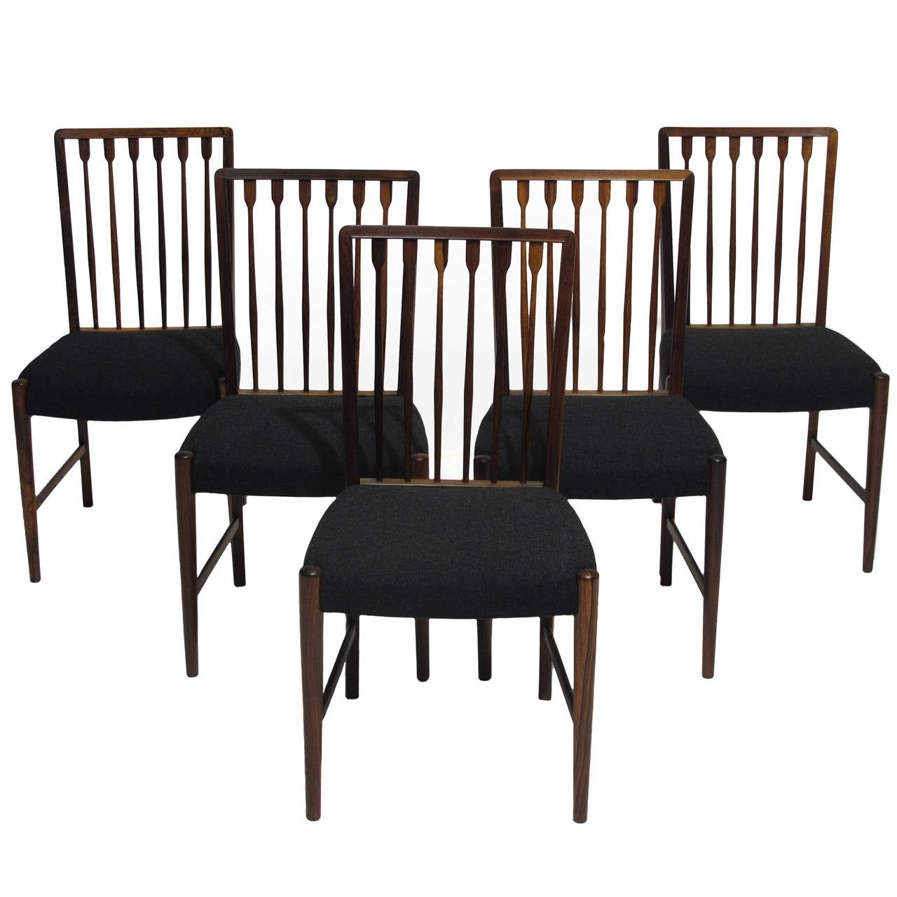 Georg kofoed danish rosewood dining chairs at 1stdibs - Rosewood dining room furniture ...