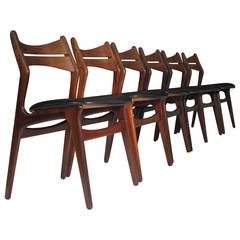 Six Erik Buck Rosewood Danish Dining Chairs, 12 Available