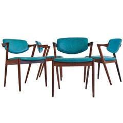Kai Kristiansen Brazilian Rosewood Dining Chairs