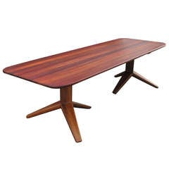 California Studio Table Crafted of Solid Padauk
