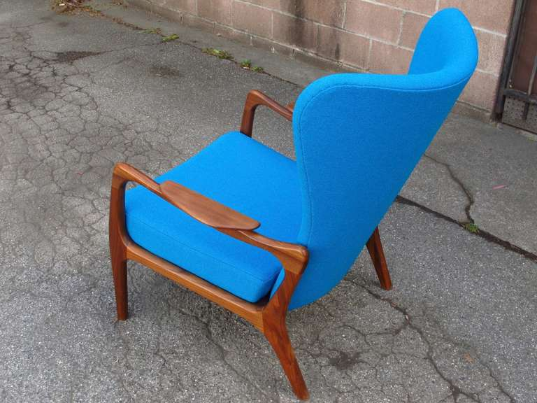 Walnut Adrian Pearsall for Craft Associates Lounge Chair