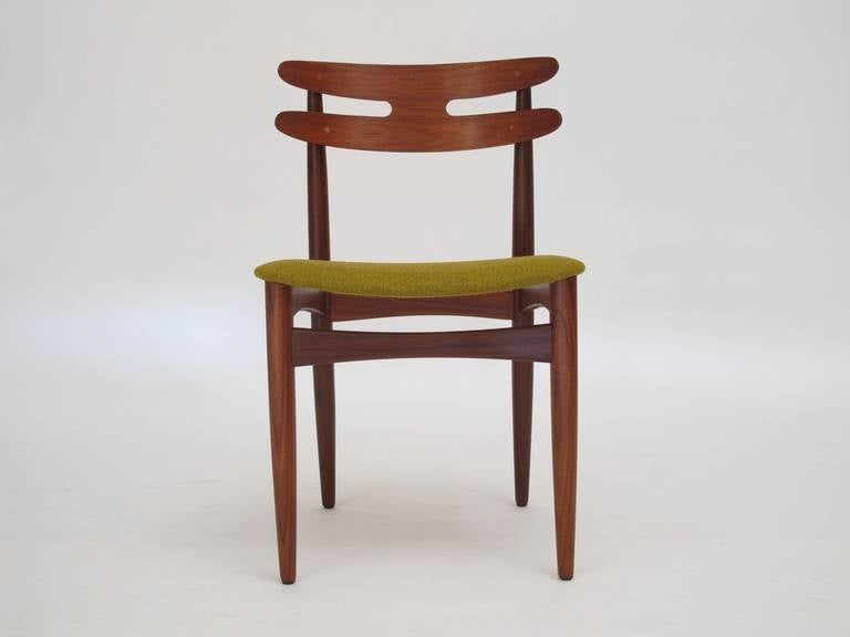Sculpted rosewood danish dining chairs red modern furniture - Bramin Danish Teak Dining Chairs At 1stdibs