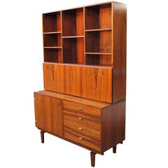 Peter Lovig Rosewood Secretaire Desk and Cabinet