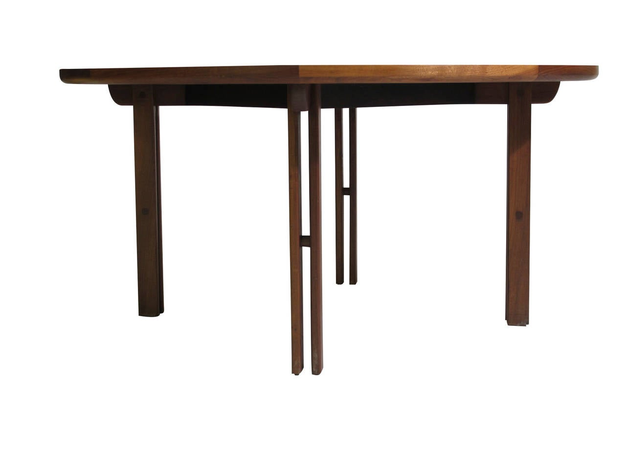 Ebony Mid-Century Walnut Coffee Table For Sale