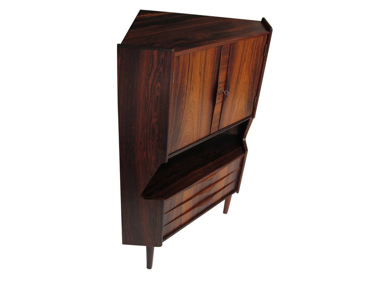Danish Omann Jun Rosewood Bar Cabinet For Sale 4  sc 1 st  1stDibs & Danish Omann Jun Rosewood Bar Cabinet at 1stdibs